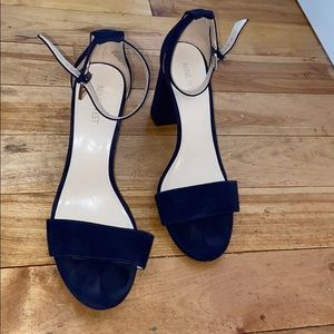 Nine West navy blue suede 4 inch heals